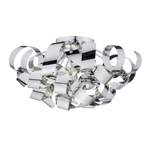 Rawley 5 Light Flush 60CM Polished Chrome RAW0555